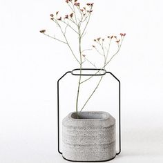 a concrete weight vase II — nice!