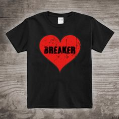 Personalized Valentines Day kids t-shirt Heart Breaker by StoykoTs
