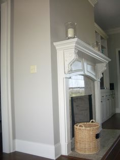 CKM Interiors: Amazing Gray by Sherwin Williams- living room/kitchen? Sherwin Williams Amazing Gray, Grey Living Room Ideas Color Schemes, New Homes, Living Room Grey, Amazing Grays, Farmhouse Bathroom Decor, Interior Paint Colors For Living Room, House Colors, Grey Paint