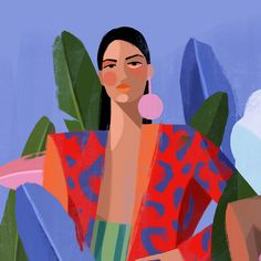 """hippie painting ideas 288441551137071957 - O S C A R T O R R E S — Virgen Santa """"Francisca"""" by Oscar Torres Source by hipopow Painting Inspiration, Art Inspo, Art And Illustration, Aesthetic Art, Watercolor Art, Graphic Art, Modern Art, Art Drawings, Art Projects"""