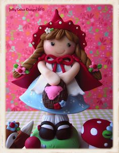 sweet little Red porcelana fria polymer clay