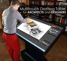 Multitouch Drafting Table can Simplify the Work of Architects, Designers and Engineers - Architecture Admirers Web Design, House Design, Studio Setup, Desk Setup, Cool Tech, My New Room, Inventions, Engineering, Design Inspiration