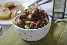 Käferbohnensalat Rezept Austrian Recipes, Good Food, Yummy Food, Party Buffet, Veggies, Tasty, Fruit, Dressings, Dip