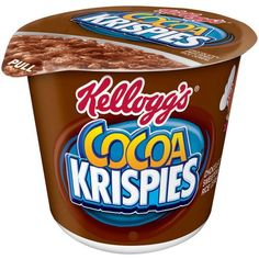 Kellogg'S Cocoa Krispies Cereal In A Cup, oz Cocoa Krispies, Rice Krispies, Puffed Rice Cereal, Crunch Cereal, Breakfast Cereal, Breakfast Ideas, Biscuits, Yummy Food, Tasty