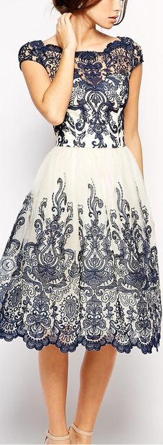 bardot embroidered dress