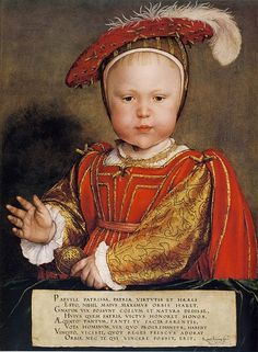 Portrait of King Edward VI, son of King Henry VIII and Jane Seymnour by Hans Holbein