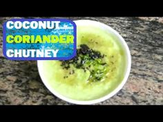 Coconut Coriander Chutney | Green Coconut Chutney | Idli Dosa Chutney