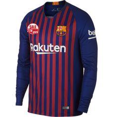 784d0cb7799 Barcelona LS Home Soccer Jersey Shirt 2018-19 Model  Goal63760 Long Sleeve  Messi Football