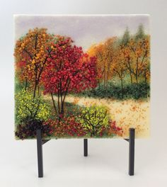 Fused glass frit piece created by Cyndy Carroll