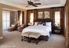 (Example of bedroom and sitting room)  bedrooms with sitting room | Master bedroom with sitting room - Madeira Canyon, NV | Design