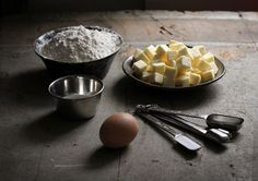 ingredients for eggy pastry dough