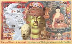 """2550 Years of """"Mahaparinirvana"""" of the Buddha: Commemorative Postage Stamps issued by India Post on Taoism, Buddhism, Buddha India, R India, Simplicity Is Beauty, E 500, First Day Covers, Stamp Collecting, Postage Stamps"""