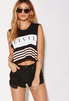 Civil Focused Muscle Tee | Forever 21 | #f21branded