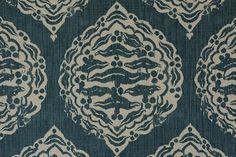 Penny Morrison / Mander Dark Blue Fabric