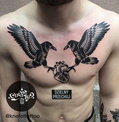 done by @KnefelTattoo at @chybatytattoo Katowice, PL  #oldschooltattoo #oldlines #traditionaltattoo #boldtattoo #vintagetattoo #tradworkers #classictattoo#vintage #traditional #oldschool #knefeltattoo #chybatytattoo #katowice #poland #tattooidea #tattoo #crow #chest #chesttattoo #crowtattoo #dzielnyprzechuj #blackwork