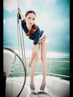 Fashion photo shoot on my boat!