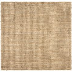Safavieh Natural Fiber Bellport Natural Square Indoor Handcrafted Coastal Area Rug (Common: 10 x 10; Actual: 10-ft W x 10-ft L)
