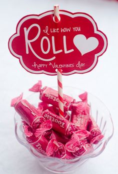 "Valentine PRINTABLE 'I Like How You Roll"" Party from Love The Day. $5.00, via Etsy."