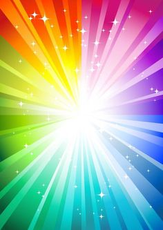 Illustration about Rainbow sunburst background with glittering stars. Illustration of stardust, light, invitation - 9448981 Rainbow Wallpaper, Colorful Wallpaper, Cute Wallpapers, Wallpaper Backgrounds, Rainbow Background, Rainbow Aesthetic, Over The Rainbow, Rainbow Light, Quote Aesthetic