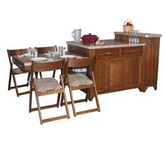 Chelsea Home Kitchen Island Set with Granite Top