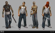 survival horror character art - Google Search