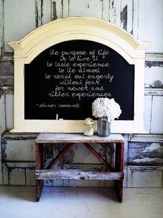 K I T C H E N Chalkboard Shabby Chic Cottage by smallVintageAffair, $189.00