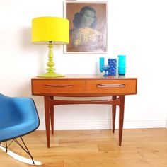 Image of Vintage Furniture - G Plan Console Table- SOLD. This sweet furniture is all over England. Decor, Retro Interior, Console Table, Retro Living Rooms, Retro Furniture, Vintage Furniture, Home Decor, Interior Furniture, Furniture