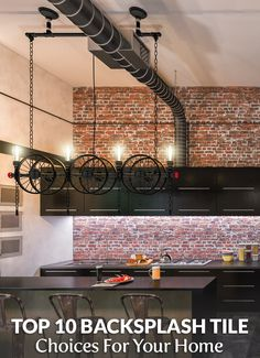 10 Best Backsplash Tile Choices For Your Home. Brick Tile, Wood Look & Arabesque, Penny Round, these are some gorgeous styles for you to choose from.