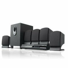Coby DVD765 5.1-Channel DVD Home Theater System (Black) with Mini Tool Box (cog) by Coby. $105.98. Coby's DVD765 system brings together high-tech features, Dolby Digital audio and stylish design for the ultimate home theater experience. Compatible with all standard disc formats, this progressive scan DVD player features a super-slim design that fits easily into your home. Five full-range satellite speakers and subwoofer with tuned port deliver pounding bass and cris...