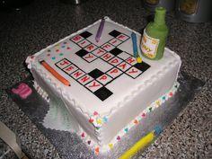 Crossword Puzzle cake