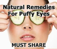 Tuesday's Tip - Natural Solutions to Get Rid of Under-Eye Bags, Dark Circles or Eye Puffiness - Potpourri of Whatever All Natural Skin Care, Anti Aging Skin Care, Organic Skin Care, Natural Beauty, Beauty Skin, Health And Beauty, Healthy Beauty, Cucumber On Eyes, Beyond Skin