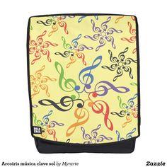 Arcoiris música clave sol. Música. Music. Producto disponible en tienda Zazzle. Accesorios, moda. Product available in Zazzle store. Fashion Accessories. Regalos, Gifts. Link to product: http://www.zazzle.com/arcoiris_musica_clave_sol_backpack-256715649145764294?CMPN=shareicon&lang=en&social=true&rf=238167879144476949 #mochila #backpack #música #music