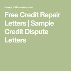 Credit Request Letter Sample Credit Repair Secrets Exposed Here
