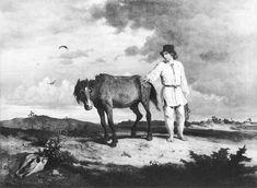 Wojciech Gerson - Farewell to a horse (Pożegnanie włościanina z koniem)  1865
