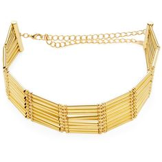 Ettika Jewelry Women's Multi Tube Choker - Gold ($59) ❤ liked on Polyvore featuring jewelry, necklaces, gold, 18k jewelry, gold necklace, long choker necklace, ettika jewelry and 18k gold jewelry