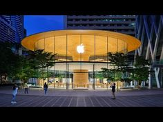 Apple Building, A As Architecture, Architecture Interiors, Glass Curtain Wall, Basement Floor Plans, Foster Partners, Tree Canopy, Glass Facades, Video Wall