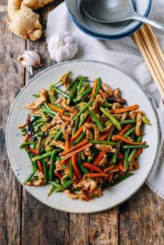 Chinese Garlic Scapes Stir-fry with Pork | The Woks of Life