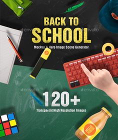 Buy Back To School Mockups and Hero Image Scene Generator by CreativeForm on GraphicRiver. Back to school mockup is scene generator that help you to create beautiful hero images for print and website headers. College Resume Template, Simple Resume Template, Creative Resume Templates, Website Header, Mockup Generator, Web Design Trends, Scene Creator, Back To School, Hero