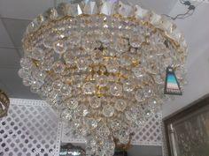 Lamparas de cristal strass . 60 cm 6 luces