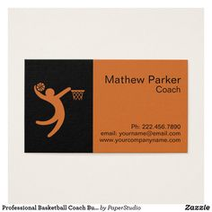Basketball coach sport business card business cards and business professional basketball coach business card colourmoves