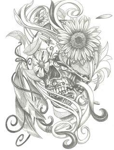Image Detail for - skull sugar skull drawing sugar skull picture sugar skull tattoo sugar ...