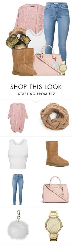"""Untitled #585"" by b-elkstone ❤ liked on Polyvore featuring Violeta by Mango, Jonathan Simkhai, UGG Australia, 7 For All Mankind, Michael Kors, Topshop, MICHAEL Michael Kors and Kendra Scott"