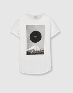 Pull&Bear - homem - vestuário - blusas - t-shirt estampado japão - branco - 09244530-I2016