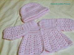 15 Free Baby Sweater Crochet Patterns: Shell Stitch Crochet Baby Sweater Free Pattern