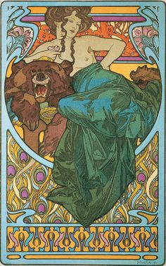 Bear Necessities by Alphonse Mucha