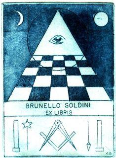 A Collection of Masonic Bookplates or Ex-Libris by Brother Jens Rusch Ex Libris, Masonic Symbols, Freemasonry, Illuminati, Printmaking, Brother, Plates, Tattoos, Books
