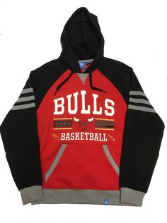 CHICAGO BULLS ADULT ADIDAS ORIGINALS CLASSICS PULLOVER SWEATSHIRT