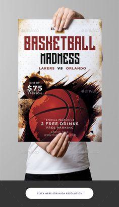 Basketball Flyer Template PSD