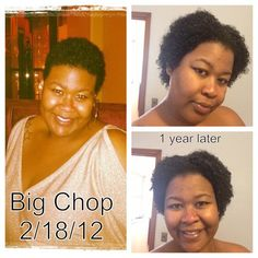 One year after my big chop!!! Still growing!!! #naturalhair