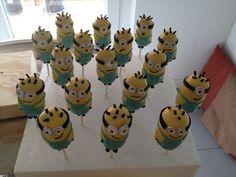 Minion cake pops for my little Chiara